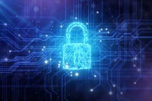 Security padlock in circuit board