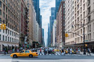 Bustling cityscape