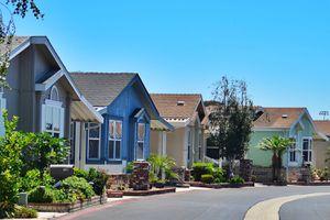 Neighborhood with Modular homes