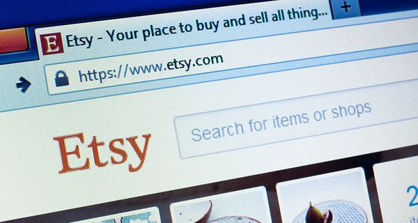 Image of Etsy web page