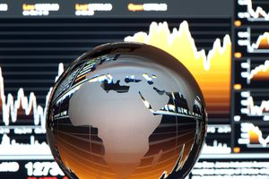 Global Finance Concept Europe and Africa
