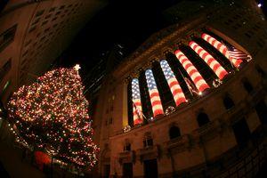 Christmas in Wall Street, Manhattan.