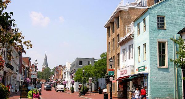 Main Street (formerly Church Street) in Annapolis, Maryland, USA