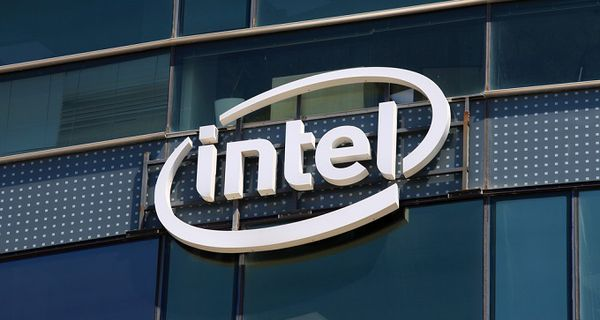 Image of Intel symbol on building