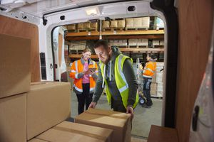Delivery Driver in the Warehouse
