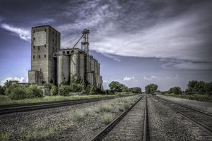 grain elevator in the countryside