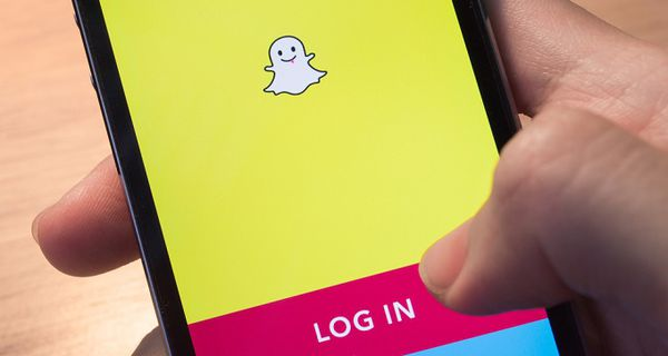 Image of Snap login screen on smartphone