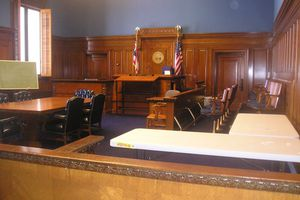 A Courtroom in the Cuyahoga County Courthouse