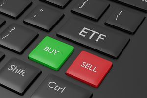 ETF button on a keyboard with buy and sell button