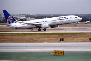 United Flight on Runway