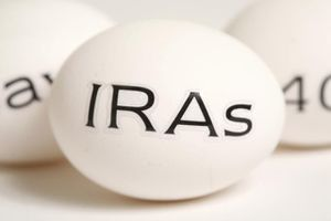 Image of an egg with the letters IRAs written on it