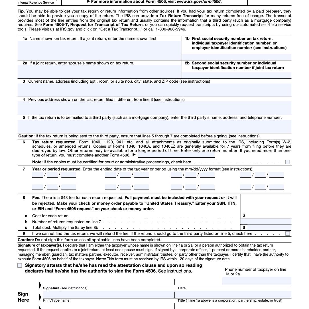 Form 4506