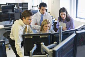 Traders at Trading Desk