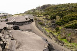 View Of Damaged Road