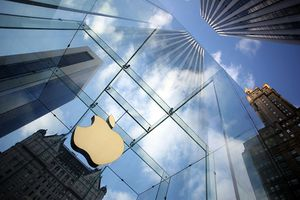 Apple store and logo