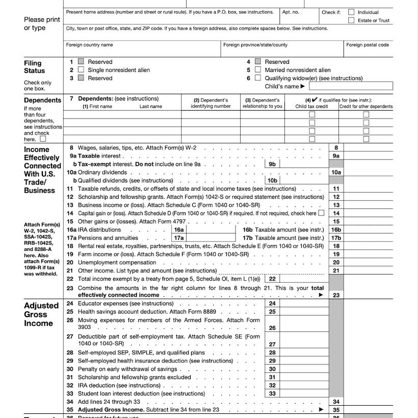 Form 1040NR Definition