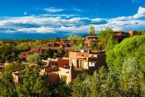 Santa Fe hillside houses