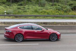 Tesla Model S on the highway