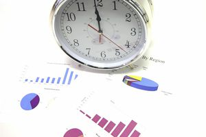 A clock and financial charts indicate there are numerous methods to account for depreciation and amortization of assets