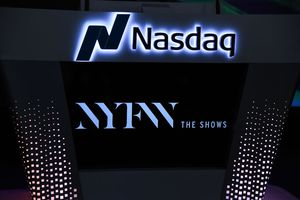 A general view of atmosphere during the opening Nasdaq bell.