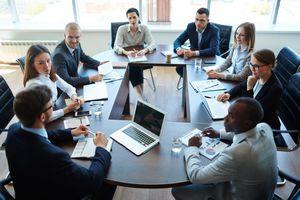 Meeting of boardmembers in office
