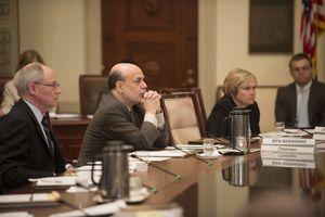 Ben Bernanke at open board meeting, Basel III on July 2, 2013, where current rules for bank strnegth were established