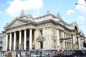 Façade de la Bourse de Bruxelles (1873), architecte: Léon-Pierre Suys