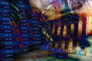 Financial Data on Abstract Background