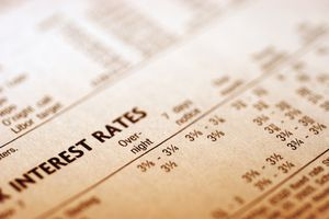 A paper with interest rates.