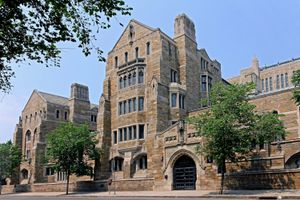 A picture of the building of Yale university