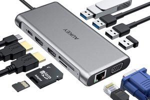 Aukey USB C 12-in-1 Type C Adapter
