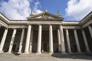 a neoclassical building