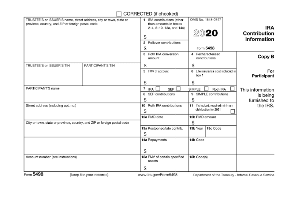 The Purpose Of Irs Form 5498