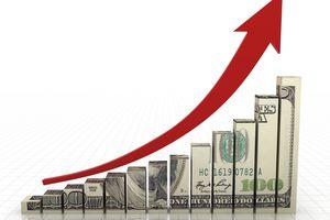 Money graph stock market finance growth chart.
