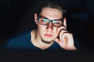 A dark-web user explores .onion sites.