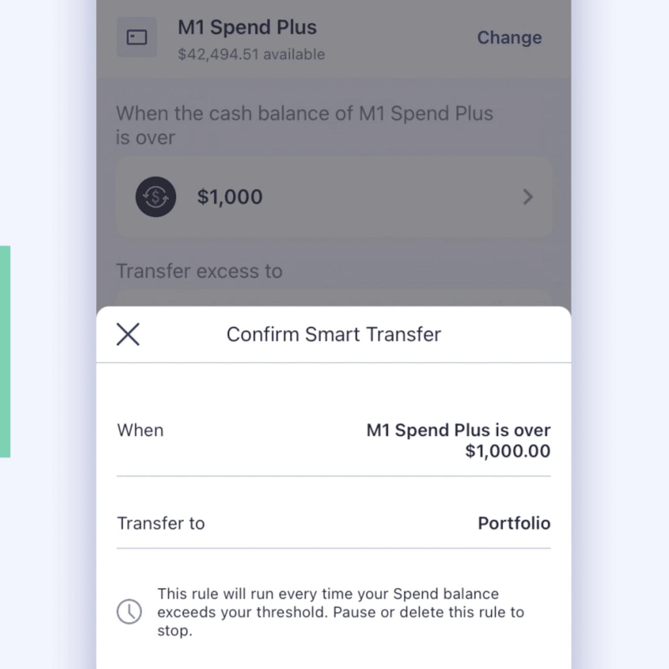 M1 Finance Smart Transfer setup