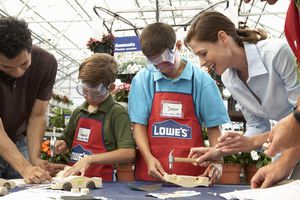 Image of demonstration in Lowe's store