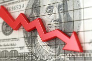 Stock market crash 3d illustration.