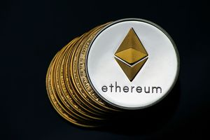 A visual representation of the cryptocurrencies Ethereum.