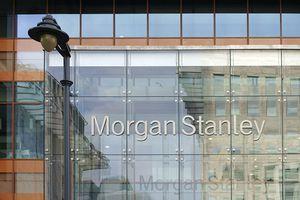 The facade of a Morgan Stanley office.