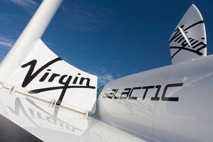 Model of Virgin Galactic's SpaceShipTwo (SS2)