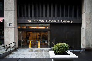 An IRS building facade.