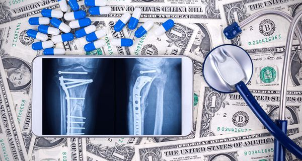 Image of health equipment and currency