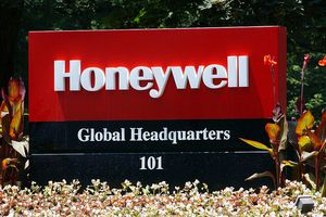 Honeywell sign at its global headquarters
