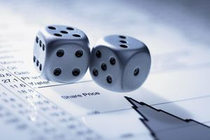 Dice on top of stock information