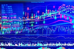 A stock market chart.
