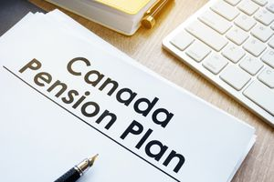 Canada Pension Plan (CPP) on a office desk.
