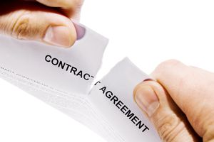 Hands Ripping Contract Agreement Document