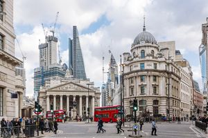 London Royal Stock Exchange building
