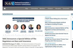 NAIC newsletter headlining
